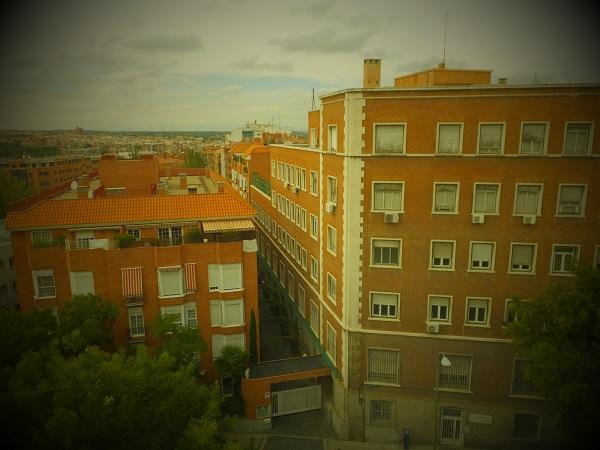 ホテル眺め00_1日目① スペイン・マドリード到着_ある日本人観光客のスペイン旅行記