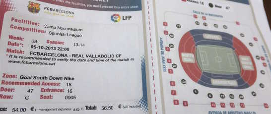 カンプノウチケット00_バルセロナ4-5_ある日本人観光客のスペイン旅行記
