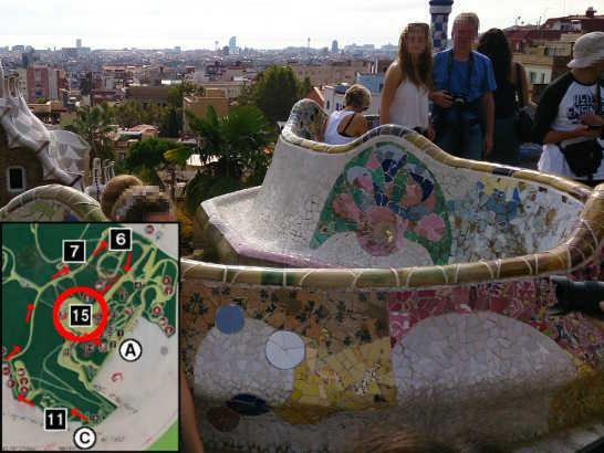 グエル公園22中央広場_バルセロナ5-2ある日本人観光客のスペイン旅行記