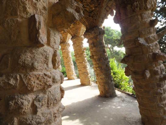 グエル公園10回廊_バルセロナ5-2ある日本人観光客のスペイン旅行記