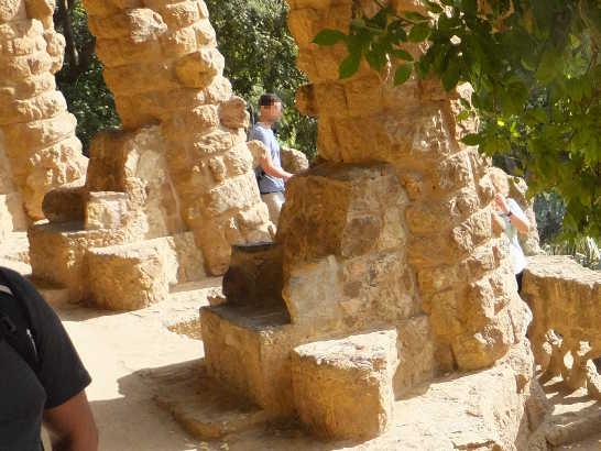 グエル公園12回廊_バルセロナ5-2ある日本人観光客のスペイン旅行記