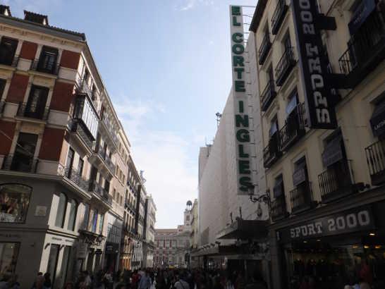 エルコルテイングレス00_マドリード_スペイン旅行記2014